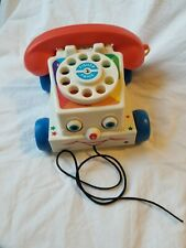 Remake of Vintage  Fisher Price  CHATTER PHONE ROTARY TELEPHONE Pull Toy