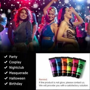 UV Glow Neon Face Paint Body Paint 25ml and 10ml Fluorescent Festival Makeup