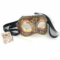 Venetian Hand Painted La Maschera Del Galeone Mask Italy Mardis Gras Masquerade