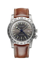 """Glycine Men's GL0183 Airman Vintage """"The Chief"""" GMT Automatic 40mm Grey Dial"""