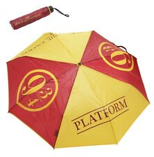 "Harry Potter Hogwarts Train Platform 9 3/4 Compact Fold-Up 35"" Umbrella Wristlet"