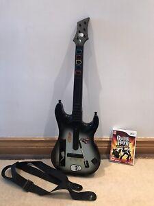 Wii Guitar Hero World Tour Guitar And Game