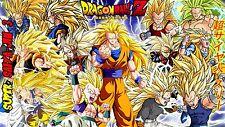 Poster 42x24 cm Dragon Ball Z Gohan Trunks Goten Goku Vegeta Super Saiyans