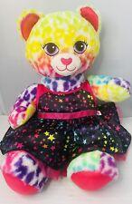 """Build A Bear Workshop Rainbow Stars Dress Cat 16"""" BAB Stuffed Soft Plush"""