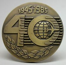 TAP AIR PORTUGAL Airline/ 1945 - 1985 40th Anniversary Bronze Medal