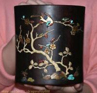 """6.8 """"dynastie en coquillage incrusté de bois de porcelaine de Chine ancienne"""