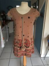 Yumi Vintage Style Tunic / Dress S/M Bobble Detail BNWOT
