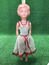 Vintage Little Girl Plastic Doll Mpf Hong Kong Hair in Bun Dress 19� Tall