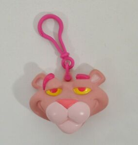"""RARE 1999 Pink Panther Clip-On Coin Keeper 3.5"""" Burger King EUROPE Action Figure"""