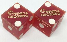 Casino Dice - Nevada Crossing Hotel Pair Used Dice Wendover Nv 70s/80s Free S/H