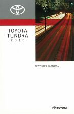 2010 Toyota Tundra Owners Manual User Guide Reference Operator Book