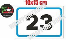 Numeri civici numero civico DIBOND ALLUMINIO numero personabilizzabile 10x15 cm