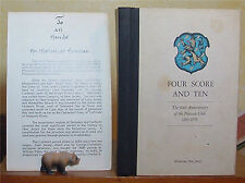 Four Score and Ten, The 90th Anniversary of the Nassau Club 1889 - 1979