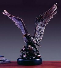Large Eagle With Two Babies 20 x 19 Beautiful Bronze Statue / Sculpture New