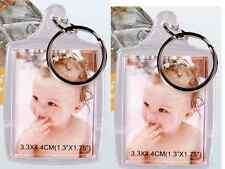 2 x Schlüsselanhänger für jeweils 2 Passfotos aus Acryl