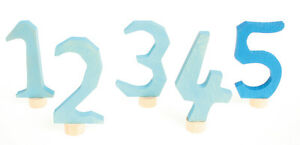 Geburtstagsring Grimm Zahlen Stecker blau + BONUS   Grimm´s