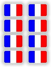 8x France Flag Stickers French Francaise Flags Sticker Autocollant Helmet bumper
