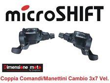 """0140 - CP Comandi/Manettini Cambio """"MicroShift"""" 3x7V per Bici MTB Mountain Bike"""