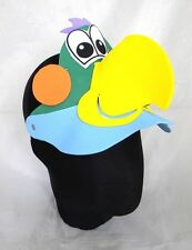 Parrot Bird Animal Zoo Farm Jungle Foam Visor Costumes Fancy Dress Hat Cap New