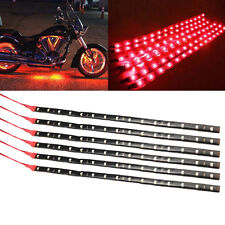 6pcs RED 1Ft/15 SMD LED Car Motors Truck Flexible Strip Light Waterproof 12V