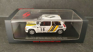 Renault 5 GT Turbo #19, Alain Oreille, Rallye Monte Carlo 1989, 1/43 Spark