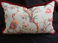 "BRUNSCHWIG FILS PILLOW Sham Birds of a Feather Down Form 19"" x 26"" Brush fringe"