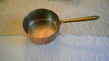 VINTAGE COPPER SAUCE PAN BRASS HANDLE - STAMPED TAGUS MADE IN PORTUGAL