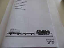 Märklin HO Start Set 29166 Lok -Bedienungsanleitung-Anleitung-Gebrauchsanleitung