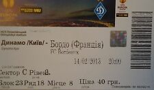 mint TICKET UEFA EL 2012/13 Dinamo Kiew - Girondins Bordeaux