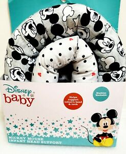 DISNEY BABY MICKEY MOUSE INFANT HEAD & NECK SUPPORT. MACHINE WASHABLE.