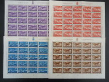 LIECHTENSTEIN 1937 152-155 ** POSTFRISCH per 20 im KLEINBOGEN 400€+(Z9005c
