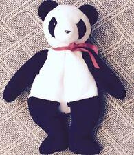 1998 Fortune Panda Original TY Beanie Baby P.E. Pellets Retired w/ Error
