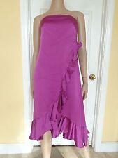 BANANA REPUBLIC pink silk ruffle party dress size 4 new $168