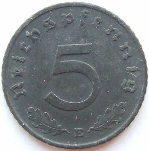 5 Reichspfennig 1942 E in fast Vorzüglich !!!