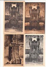 Lot 4 cartes postales anciennes LA CHAISE-DIEU buffet d'orgues