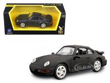 1996 PORSCHE 911 TURBO MATT BLACK 1/43 DIECAST MODEL CAR BY ROAD SIGNATURE 94219