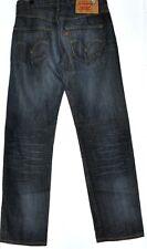 LEVI STRAUSS & CO BLUE 501 STRAIGHT LEG JEANS W 32 L32