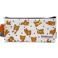 San X Rilakkuma Pencil Case Cosmetic Pouch Bag Canvas Fabric