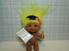 "#1 Grad / Graduation - 3"" Russ Troll Doll - New In Bag - Rare"