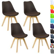 4er Set Esszimmerstühle Design Esszimmerstuhl Küchenstuhl Holz Braun BH29br-4