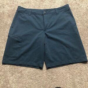 Magellan Outdoors Men's Water-Repellent Polyester Blend Fish Gear Blue Shorts