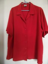 Allison Daley Red  Short Sleeve Blouse Top Shirt Size 22W