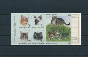 LO29759 Finland pets animals cats booklet MNH