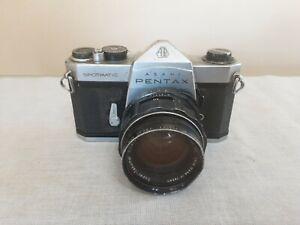 Vintage pentax asahi spotmatic sp 35mm camera super takumar lens for repair #G10