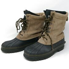 Men's Rubber Suede Snow Pac Boots Warm Shoes Thinsulate Liners Sz US 11  L2A