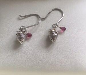 Alex Monroe Strawberry Drop Earrings