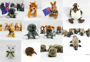 Australian Souvenir Soft Plush Stuffed Toy Animals Koala Kangaroo 10-15cm