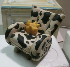 'Take A Seat' By Raine Miniature Dollhouse Cow Chair 1998 #24020