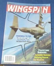 WINGSPAN MAGAZINE OCTOBER 1993 - FAREWELL TO THE 'BRICK'
