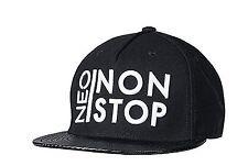 ADIDAS NEO PAC non stop Snap Back Baseball Hat Uomo Donna Orlo Piatto Nero